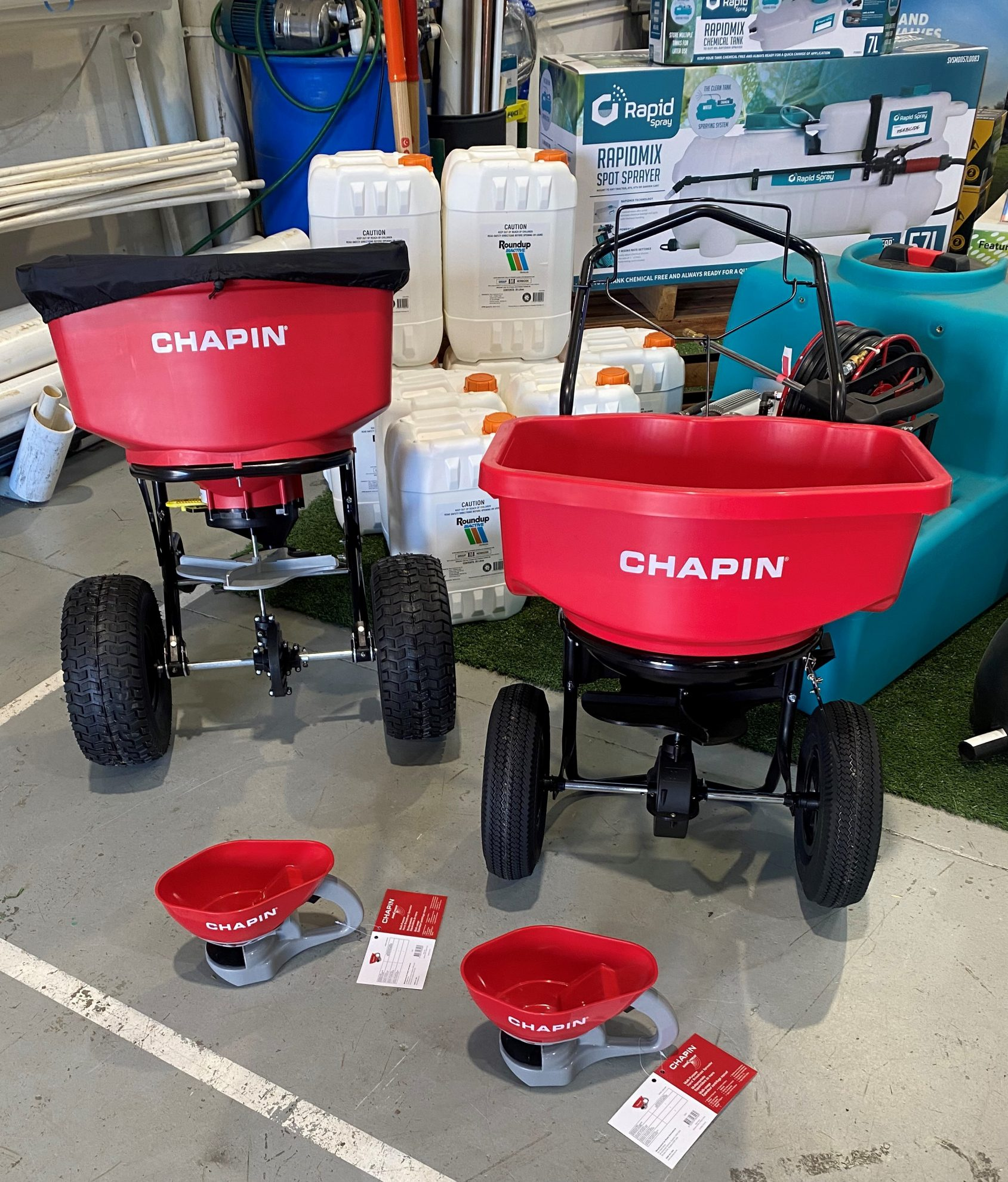 Chapin products on display