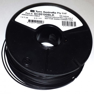 SINGLE CORE CABLE 1.0MM 500M ROLL BLACK