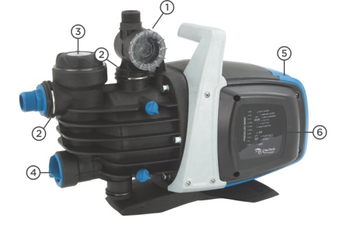 CLAYTECH 400W C3 JET PUMP WITH AUTOMATIC PRESSURE CONTROLLER
